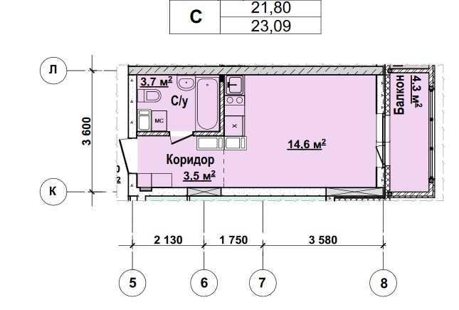 С 13 по 22 этаж. Стоимость 2 031920 руб.
