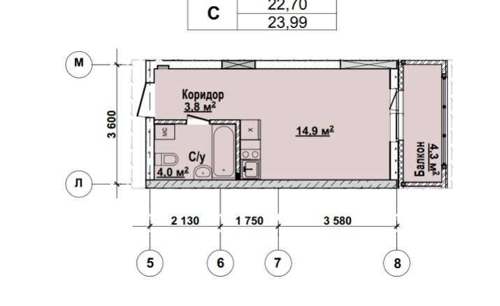 1 этаж. Стоимость 2 031920 руб.
