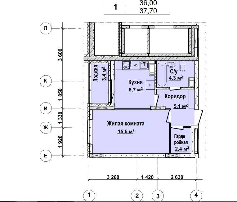 Со 2 по 12 этаж. Стоимость 3242200 руб.