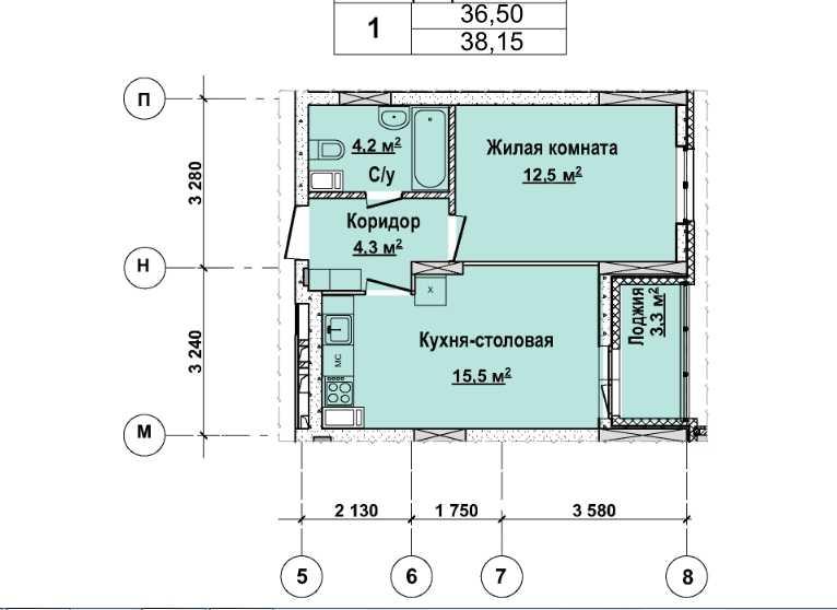 Со 2 по 12 этаж. Стоимость 3 280900 р.