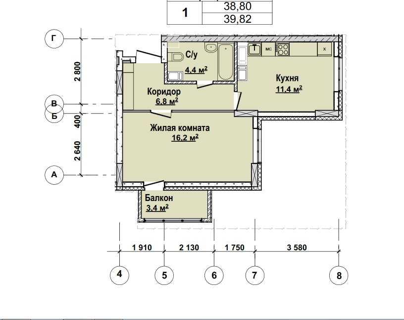 С 13 по 22 этаж. Стоимость 3424520 руб.