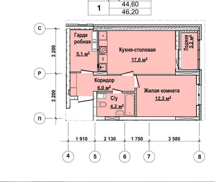 С 13 по 22 этаж. Стоимость 3973200 руб.