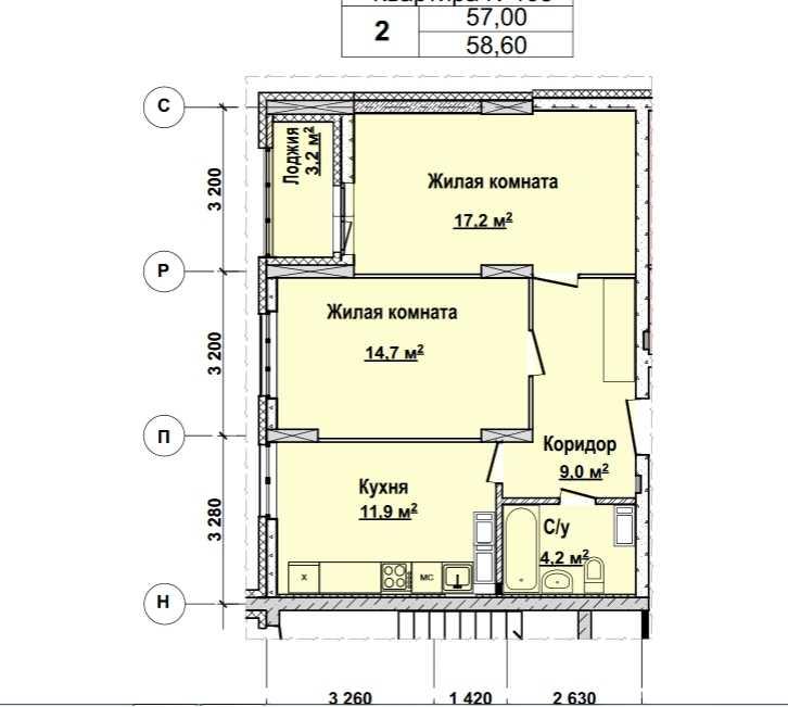 С 13 по 22 этажи. Стоимость 4922400 руб.
